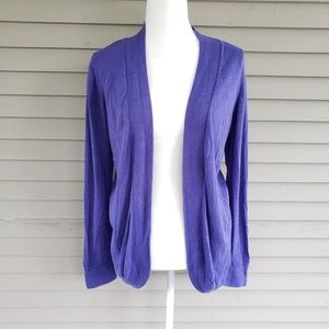 Chico's Purple Blue Open Front Cardigan Size 1